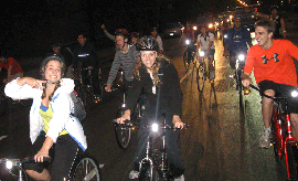 Students in Chicago's Sept. 2009 Critical Mass